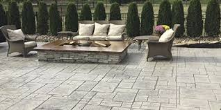 stamped concrete patio with square fire pit. Stamped Concrete Patio With A Square Fire Pit. Stamped Pit