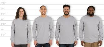 Customink Com Sizing Line Up For Gildan Hammer Long Sleeve T
