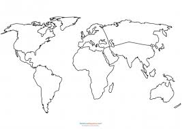 Small Picture World Map Coloring Page KidsPressMagazinecom