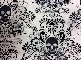 Goth Horror Skull Damask Punk Scarey Halloween Tattoo Dead Cotton ... & Goth Horror Skull Damask Punk Scarey Halloween Tattoo Dead Cotton Quilt  Fabric TT67 Adamdwight.com