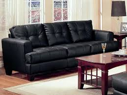 black leather couch. Samuel Black Leather Sofa By Coaster - 501681 Couch B