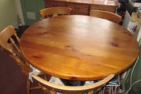 1 2m 120cm 4ft diameter round table solid pine kitchen dining table with 4