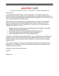 Graphic Designer Cover Letter Example Designer Cover Letter