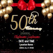 Anniversary Template 50th Anniversary Template Postermywall