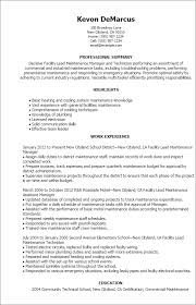 Facility Manager Resume Sample Best of 24 Facility Lead Maintenance Resume Templates Try Them Now