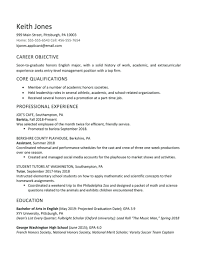 Objective For High School Resumes Sample Graduate Student Resume