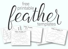 feather template printable turkey feather patterns templates free live craft eat