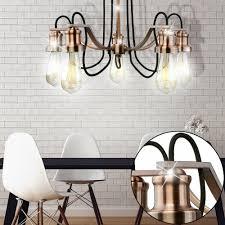 Leuchte Leuchter Kron Edelstahl Spot Kupfer Zimmer Ess Lampe