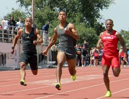 anese sprinter abdul hakim sani brown posted a personal best 100 meter time to place second at the bryan clay invitational in california on friday
