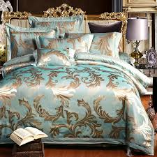 ivarose 4 6pcs green bedding set silk cotton cozy bed skirt luxury intended for queen duvet cover sets canada idea 17