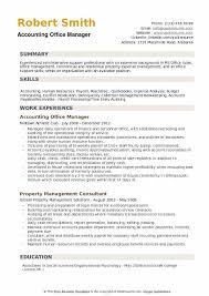 Office Manager Resume Sample New Accounting Office Manager Resume Samples QwikResume