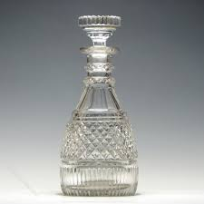 georgian style cut crystal decanter all other glass