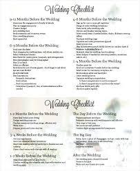 Wedding Day Checklist Template