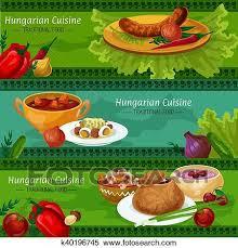 Clipart   Ungarische, Küche, Banner, Für, Gasthaus, Design