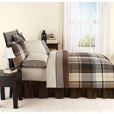 mainstays plaid coordinated bedding