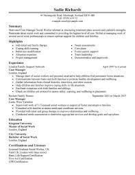 ... Cool Design Case Manager Resume 4 Best Case Manager Resume Example ...
