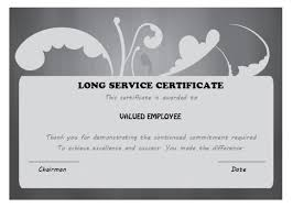 customer service award template 12 free long service award certificate samples wordings