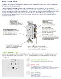 leviton 20 amp self test smartlockpro slim duplex gfci outlet white decora colors ul fed spec wc 596 rated