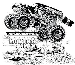 Coloring Pages Monster Jam Coloring Pages Of Grave Digger Truck