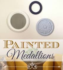 painted ceiling medallions add design and unique wall decor for your home a simple diy on diy ceiling medallion wall art with how to make painted medallions wall decor the crafty blog stalker