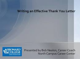 Thank You Letter Presentation