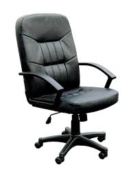 black leather office chair. Perfect Leather Attractive Modern Black Leather Office Chair  Andifurniture Throughout E