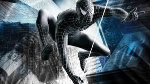 black spiderman superhero hd