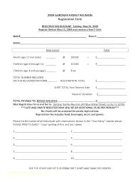 Registration Template Word Registration Template Word Printable
