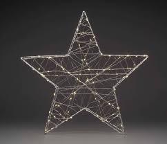 Konstsmide 1793 333 Led Tischdeko Stern Warm Weiß Led Silber