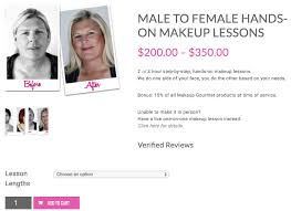 male to female transformation hands on makeup lessons