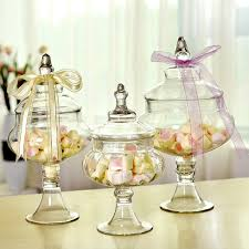 Decorative Glass Candy Jars 100pcsset Fashion transparent glass candy jar food cans fashion 72