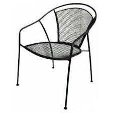 uptown patio bistro chair steel mesh