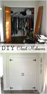 diy closet makeover closet makeover diy bifold closet doors makeover