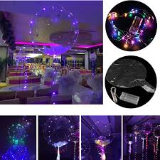 18 colours led lights bubble helium balloons wedding birthday party decorations