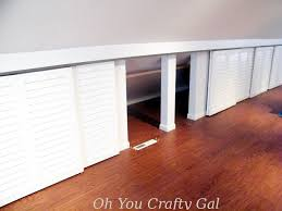 attic knee wall hanging closet with