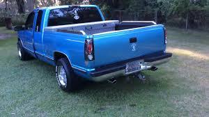 1996 Chevy Silverado straight pipes - YouTube