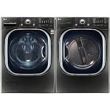 black washer and dryer. Front Load Washer W/Steam \u0026 7.4 Cu Black And Dryer F