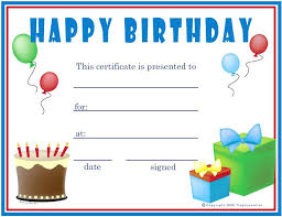 Sample Birthday Gift Certificate Template