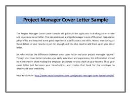 Program Manager Cover Letter Example 2 Project Nardellidesign Ideas