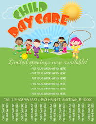 Samples Of Daycare Flyers 240 Daycare Customizable Design Templates Postermywall