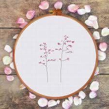 Easy Cross Stitch Patterns Custom Beginner Cross Stitch Pattern Modern Natural Easy Flower Cross