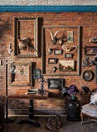 Brick Wall Decor For Empty Picture Frames