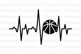 Free svg image & icon. Basketball Heartbeat Graphic By Cutfilesgallery Creative Fabrica