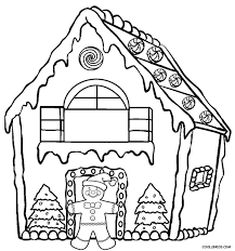 Small Picture Christmas Gingerbread House Coloring Pages Printable Get