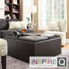 Inspire Q Avenue Faux Leather Multipurpose Storage Ottoman | Overstock.com  Shopping - The Best