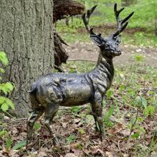 garden ornaments wild baby stag deer