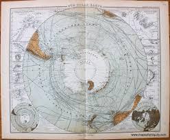 Polar Routes Charts South Pole Sud Polar Karte Antique Maps And Charts