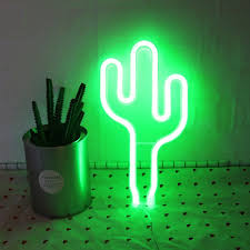 Cactus Neon Light Led Cactus Neon Light Sign Wall Decor Night Lights Home