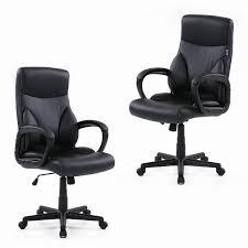 leather swivel office chair. ikayaa dxracer faux leather adjustable swivel office executive chair stool high back computer task