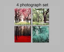 4 seasons wall art set